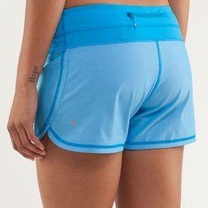 Lululemon blue beach blanket groovy run shorts